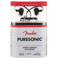 Fender Puresonic Black Metallic Wired In-Ear Earbuds w/Mic #6810000001 -Hea