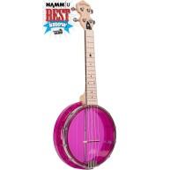 Gold Tone Little Gem Amethyst Clear Concert Banjolele Banjo Ukulele with Gi