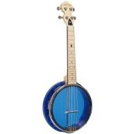 Gold Tone Little Gem Sapphire Clear Concert Banjolele Banjo Ukulele with Gi