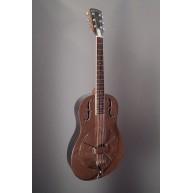 Gold Tone #GRS Paul Beard Metal Body Resonator Guitar Brushed Aluminum Fini