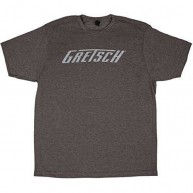 Gretsch Logo Graphic T-Shirt in Heather Gray - Mens Size Small #0994874406