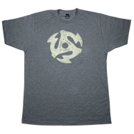 Gretsch Guitars Charcoal 45RPM Logo Graphic T-Shirt, Mens Size Small #92245