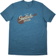 Gretsch Guitars G6120 Deep Teal Graphic T-Shirt - Mens Size L #9226120614