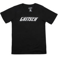 Gretsch Logo Graphic Ladies T-Shirt in Black - Women's Extra Large #9228005