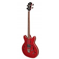 Guild Starfire Electric Semi Hollow Bass Guitar in Red with Case - Blem #A9