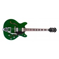 Guild Starfire V Electric Guitar in Green with Hardshell Case - Blem #N129