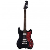 Guild S-50 Jetstar Solid Body Electric Guitar in Black with Gig Bag - Blem