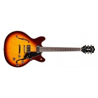 Guild Starfire IV Maple Semi Hollow Sunburst Electric Guitar + Case - Blem