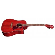 Guild D-120CE Acoustic Electric Cherry Red Dreadnought Guitar w/bag - Blem