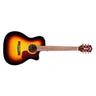 Guild OM-140CE Acoustic Electric Sunburst Orchestra Sz. Guitar + Case  Blem