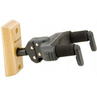Hercules GSP38WB Locking Guitar Hanger Wall Mount With Wooden Base Plate