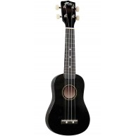 Hilo Model 2500BK Black Finish Soprano Size Ukulele with Gig Bag