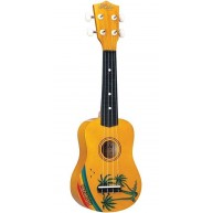 Hilo Model 2649-A Hawaiian Motif Soprano Size Ukulele with Gig Bag