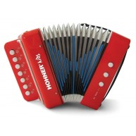 Hohner Kids Model UC102R Musical Toy Accordion in Red - Very Cool !