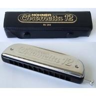Hohner 255/48 Chrometta 12 3 Octave Slide Harmonica- Key of C, Made in Germ