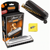 Hohner Special 20 Progressive Harmonica with Free Pouch and Cloth - Key of