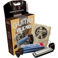 Hohner Guitars GVP Guitar Value Pack with Harmonica , tuner , picks and mor