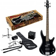 Ibanez IJXB150 Ibanez IJXB150 Jumpstart Bass Pack with Amp and More, Black