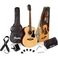 Ibanez IJVC50 Grand Concert Acoustic Guitar Quickstart Jampack with Bag and