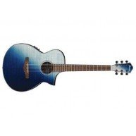 Ibanez AEWC32FMISF Indigo Sunset Fade Acoustic Electric Flame Maple Top Gui