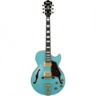 Ibanez AG75GMTB Artcore Hollow Body Cutaway Electric Guitar in Mint Blue Fi