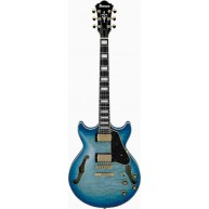 Ibanez AM93QMJBB Artcore Expressionist Semi Hollow Electric Guitar Jet Blue