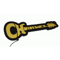 Charvel Guitars Logo LED Light Up Display Store Sign with Power Supply 18x7