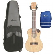 Journey UC770C - Solid Top Meranti Concert Ukulele w/Case and Rain Cover -