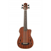 Kala UBASS-JYMN-FS Journeyman Acoustic Electric Fretted F-Hole Ukulele Bass
