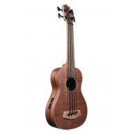 Kala UBASS-SMHG-FL All Solid Mahogany Fretless Acoustic Electric Ukulele Ba