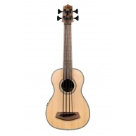 Kala UBASS-SSMHG-FS Solid Spruce Top 4-String Acoustic Electric Ukulele Bas