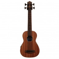 Kala UBASS-SMHG-FS All Solid Mahogany 4-String Acoustic Electric Ukulele Ba