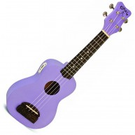 "Kohala ""TIKI"" Purple Soprano Size Ukulele with Built in Tuner Model #KT-STP"