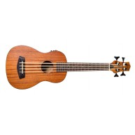 Kremona Flight DU Bass Mahogany 4-String Acoustic Electric Ukulele Bass wit