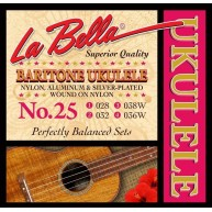 LaBella 25 Baritone Ukulele Strings - 1 Set of 4 - Model LU25 La Bella