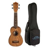 Lanikai Model OA-S Oak Soprano Size Acoustic Ukulele with 10mm Padded Gig B