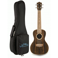 Lanikai Ziricote Concert Satin Finish Ukulele w/Deluxe Padded Gig Bag Model