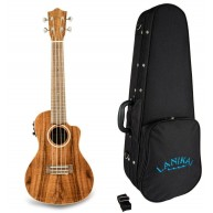 Lanikai Model ACS-CEC Acoustic Electric All Solid Acacia Concert Ukulele w/