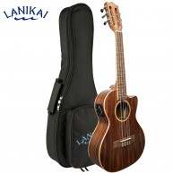 Lanikai ACST-5CET Solid Top Acacia 5-String Tenor Acoustic Electric Ukulele