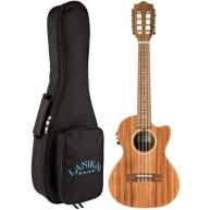 Lanikai ACST-8CET Solid Top Acacia 8 String Tenor Acoustic Electric Ukulele