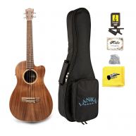 Lanikai Model ACST-C Solid Top Acacia Concert Size Ukulele with Bag, Snark