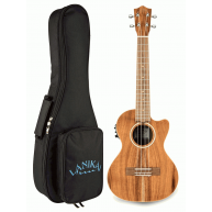 Lanikai Model ACST-CET Acoustic Electric Solid Acacia Top Tenor Ukulele w/