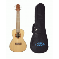Lanikai CDST-C Solid Cedar Top Satin Finish Concert Ukulele with Padded Gig