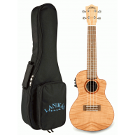 Lanikai FM-CEC Flame Maple Concert Acoustic Electric Ukulele with Padded Gi
