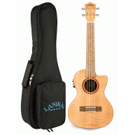 Lanikai FM-CET Flame Maple Tenor Acoustic Electric Ukulele with Padded Gig