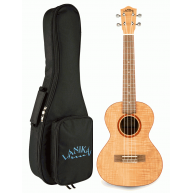 Lanikai FM-T Flame Maple Tenor Size Acoustic Ukulele with Padded Gig Bag