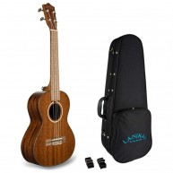 Lanikai Model MAS-T All Solid Mahogany Tenor Size Ukulele with Hard Foam Ca