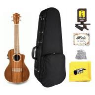 Lanikai MRS-CEC Solid Morado Acoustic Electric Concert Ukulele, Snark Bundl