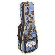 LANIKAI Concert Sidekick Reinforced Gig Bag, Floral Pattern, 10mm Lining, F