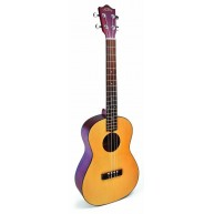 Lanikai SPTU-B Baritone Size Solid Top Ukulele TunaUke with Adjustable Sadd